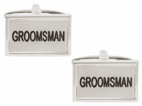 Dalaco 90-1465 Groomsman Wedding Rhodium Plated Cufflinks